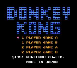 Donkey Kong Title Screen